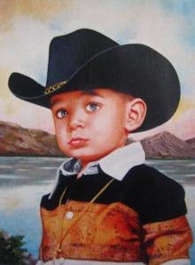 retrato infantil cuadro niño