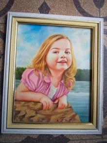 retrato niña sonriendo