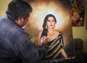 retrato cuadro personalizado oleo